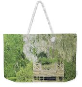 Silver White Willow Weekender Tote Bag