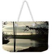 Silver Winter Lake Weekender Tote Bag