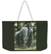 Silverback-king Of The Mountain Mist Weekender Tote Bag