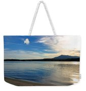 Silvery Reflection Weekender Tote Bag