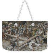 Simon The Cyrenian Compelled To Carry The Cross With Jesus Weekender Tote Bag
