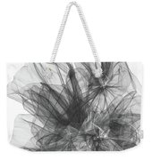 Simple Black And White Abstract Weekender Tote Bag