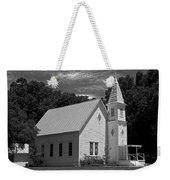Simple Country Church - Bw Weekender Tote Bag
