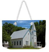 Simple Country Church Weekender Tote Bag