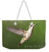 Simple Country Truths Hummingbird Weekender Tote Bag