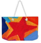 Simple Star-straight Edge Weekender Tote Bag