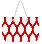 Simplified Latticework With Border In Red Weekender Tote Bag
