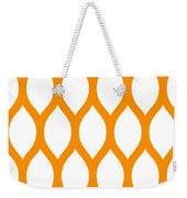 Simplified Latticework With Border In Tangerine Weekender Tote Bag