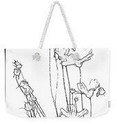 Simplistic Flower Sketch Weekender Tote Bag