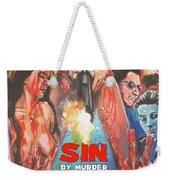 Sin By Murder Poster B Weekender Tote Bag