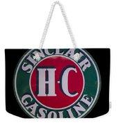 Sinclair Gasoline Porcelain Sign Weekender Tote Bag