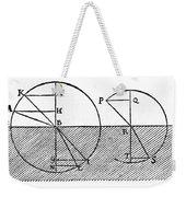 Sine Law Of Refraction, Descartes, 1637 Weekender Tote Bag