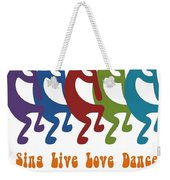 Sing Live Love Dance Tribal Kokopelli Weekender Tote Bag
