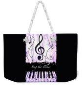 Sing The Blues Purple Weekender Tote Bag