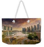 Singapore City Skyline By Marina Bay Sunset Weekender Tote Bag