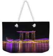 Singapore In Purple 1 Weekender Tote Bag