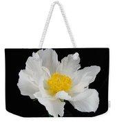 Singel White Peony Magnificence Weekender Tote Bag