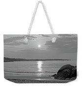 Singing Beach Rocky Sunrise Manchester By The Sea Ma Sand Black And White Weekender Tote Bag