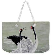 Singing Cranes Weekender Tote Bag
