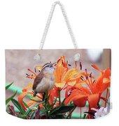 Singing Wren In The Lilies Weekender Tote Bag