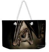Single Bat Hanging Portrait Weekender Tote Bag