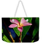 Single Blossom Weekender Tote Bag