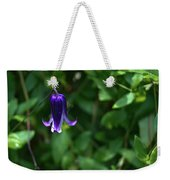 Single Clematis Bell Blossom Weekender Tote Bag