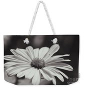 Single Daisy Bw Weekender Tote Bag