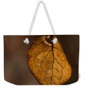 Single Fall Leaf Weekender Tote Bag