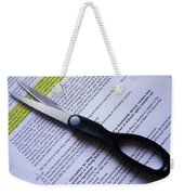 Single Finger Scissor Weekender Tote Bag
