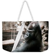 Single Gorilla Sitting Alone Weekender Tote Bag