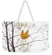 Single Leaf In Fall Weekender Tote Bag