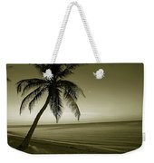 Single Palm At The Beach Weekender Tote Bag