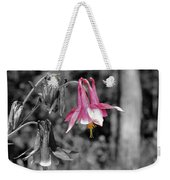 Single Pink Columbine Weekender Tote Bag