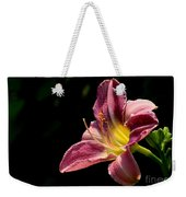 Single Pink Day Lily Weekender Tote Bag