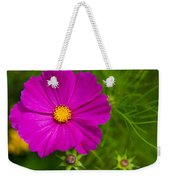 Single Purple Cosmos Flower Weekender Tote Bag