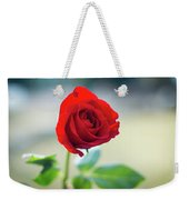 Single Red Rose Weekender Tote Bag