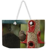 Single Songbird At Feeder Weekender Tote Bag