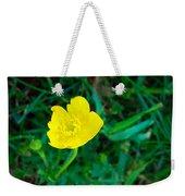 Single Yellow Buttercup Weekender Tote Bag