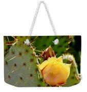 Single Yellow Cactus Bloom 050715a Weekender Tote Bag