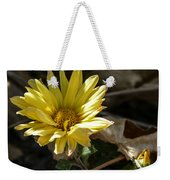 Single Yellow Mum Weekender Tote Bag