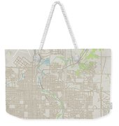 Sioux Falls South Dakota Us City Street Map Weekender Tote Bag
