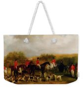 Sir Edmund Antrobus And The Old Surrey Fox Hounds At The Foot Of Weekender Tote Bag