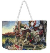 Sir Philip Sidney At The Battle Of Zutphen Weekender Tote Bag