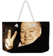 Sir Winston Churchill Victory Weekender Tote Bag