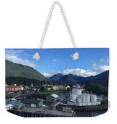 Sitka From The Waterfront Showing The Three Sisters In The Back 2015 Weekender Tote Bag