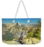 sitting at Glacier Point Weekender Tote Bag