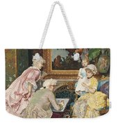 Sitting For A Portrait Weekender Tote Bag