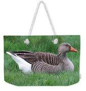 Sitting Goose Weekender Tote Bag