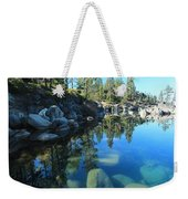 Sitting In Awe Of Her Surroundings Weekender Tote Bag